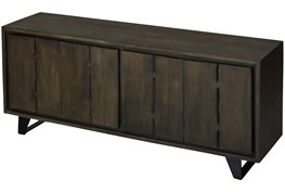 Dark Wood 4 Door Sideboard