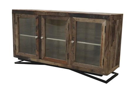 Reclaimed Wood 3 Door Cabinet - Main