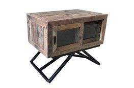 Reclaimed Wood Side Table