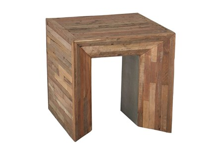 Vintage Wood End Table