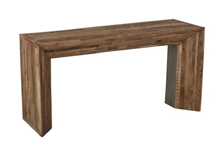Vintage Wood Console Table - Main