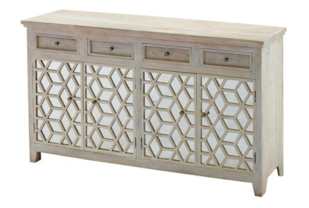 Mirrored 4 Door Sideboard