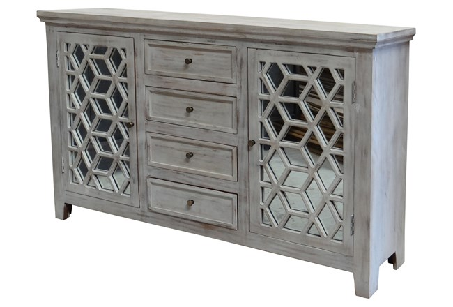 Mirrored 2 Door/4 Drawer Sideboard - 360