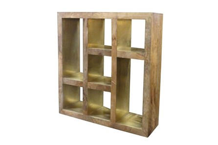 Brass Mix 7 Hole Bookcase