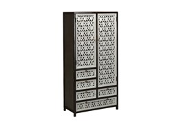 Perforated Doors Tall Cabinet