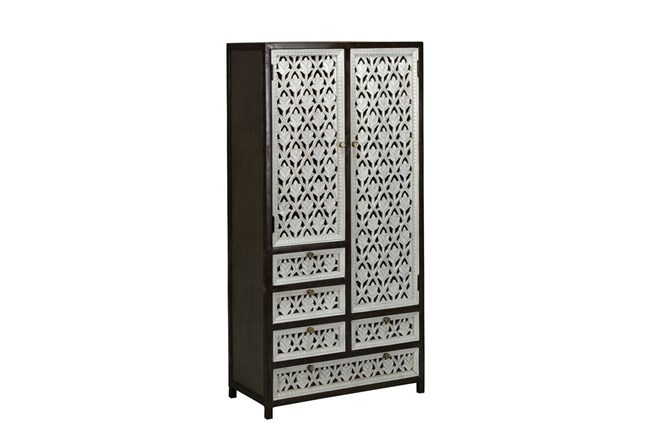 Perforated Doors Tall Cabinet - 360