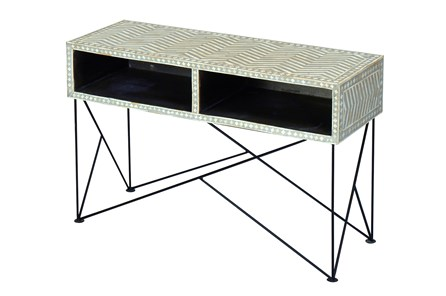 Bone Inlay Console Table