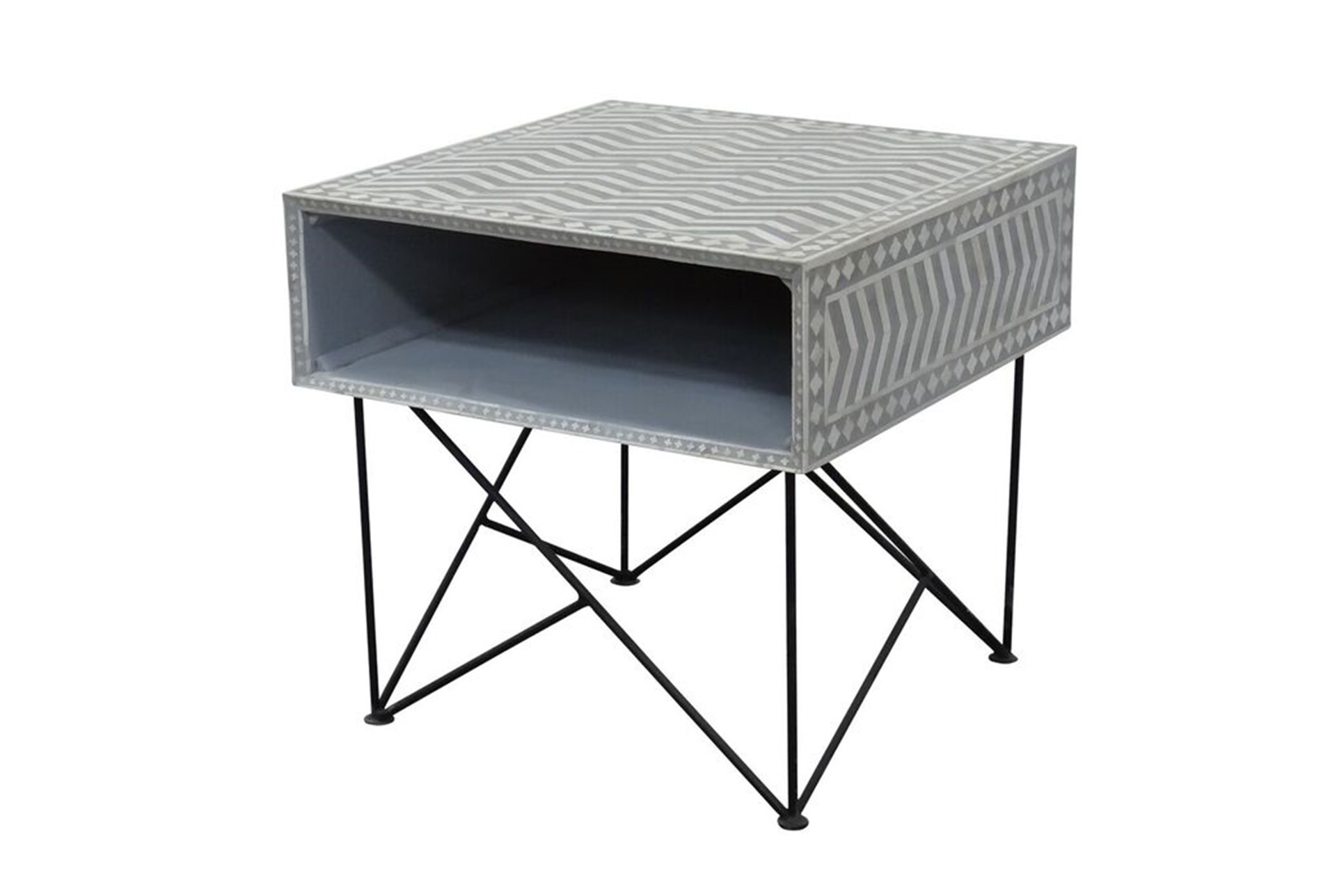 Bone Inlay Recantgle Side Table (Qty: 1) Has Been Successfully Added To  Your Cart.
