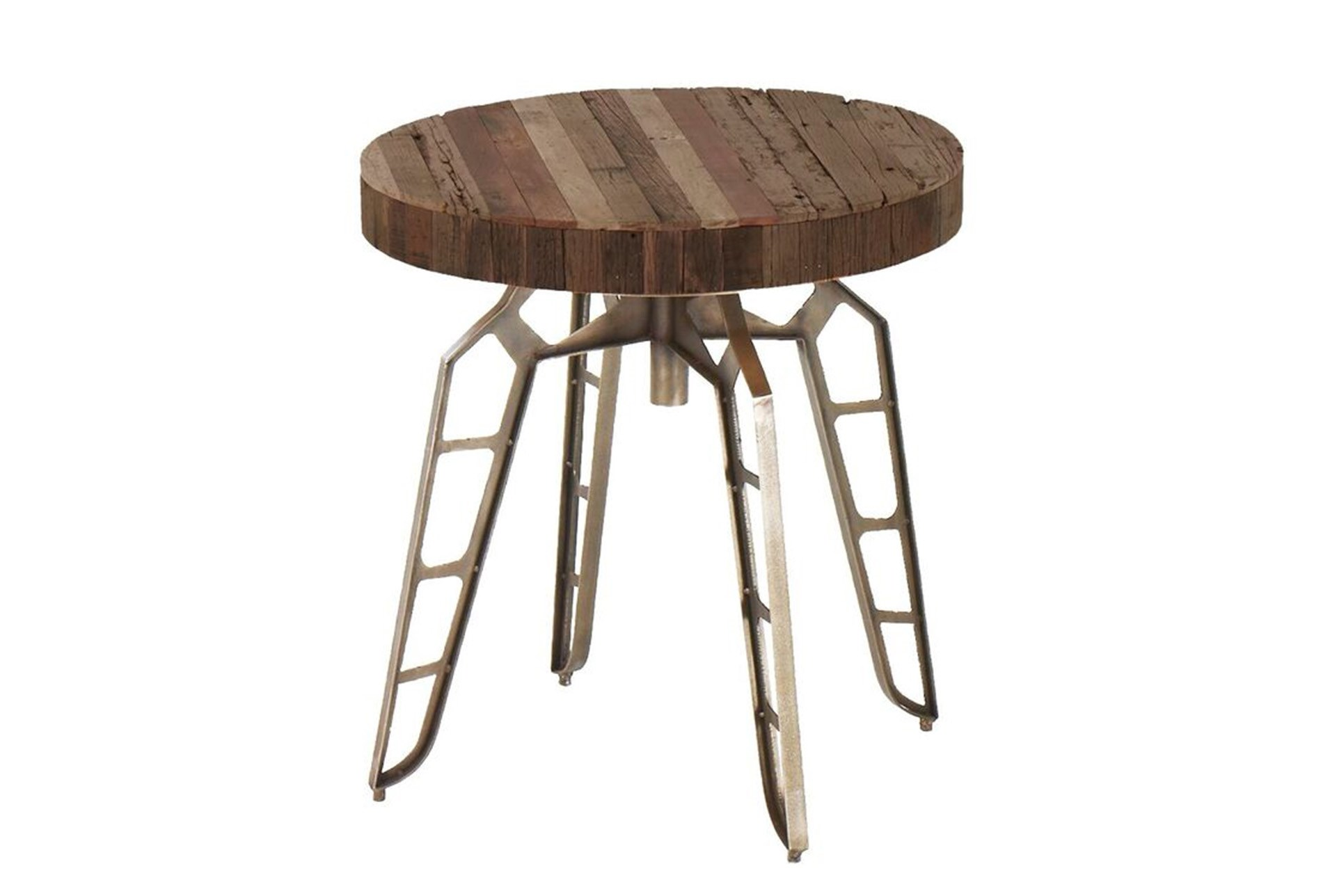 27 Inch Industrial Round Table Living Spaces