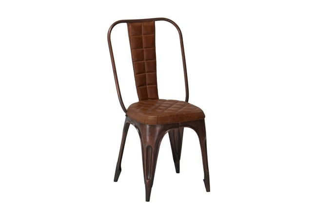 Metal/Leather Dining Chair - 360