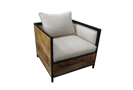 Wood And Upholstered Chair