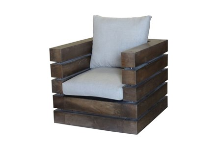 Wood Framed Upholstered Chair