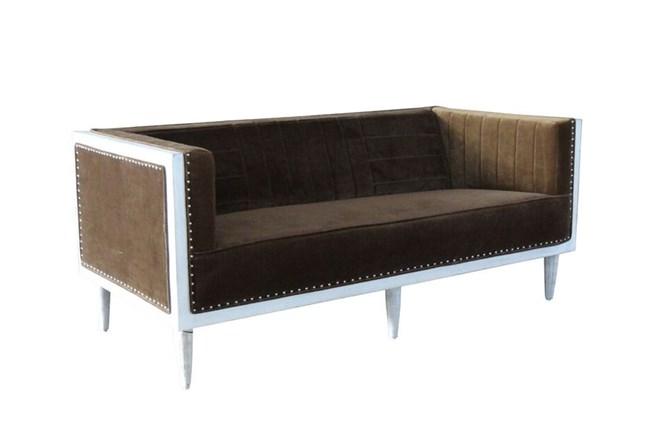 Brown Velvet Sofa - 360
