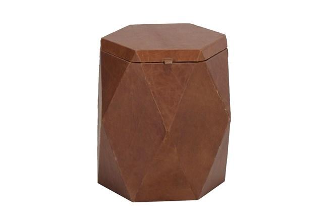 Hexagon Leather Storage Trunk - 360