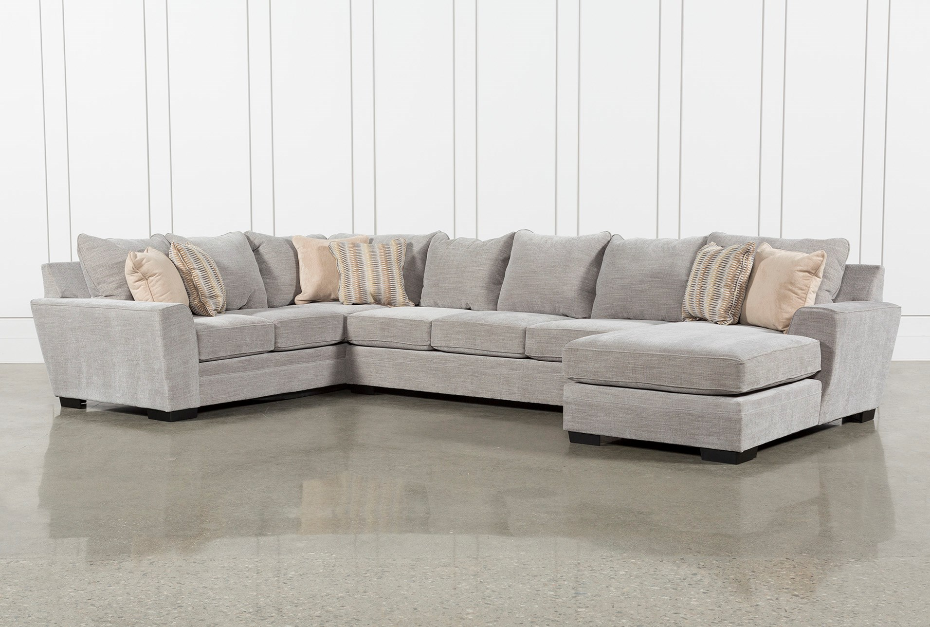 fabric sectional sofas. Delano Smoke 3 Piece Sectional Fabric Sofas I