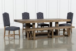 Palazzo 6 Piece Rectangle Dining Set With Joss Side Chairs