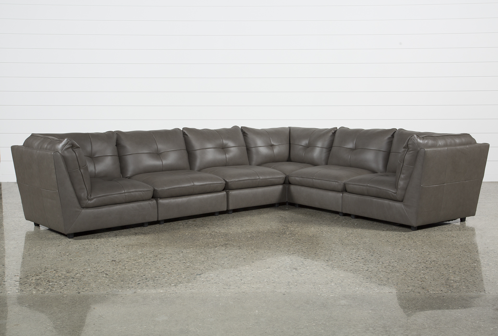 Adele Grey 6 Piece Sectional   360