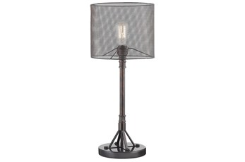 Table Lamp With Mesh Shade