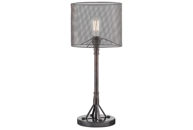 Table Lamp With Mesh Shade - 360