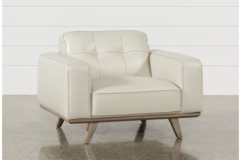 Caressa Leather Dove Grey Chair