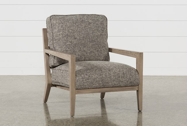 Caressa Grey Accent Chair - 360