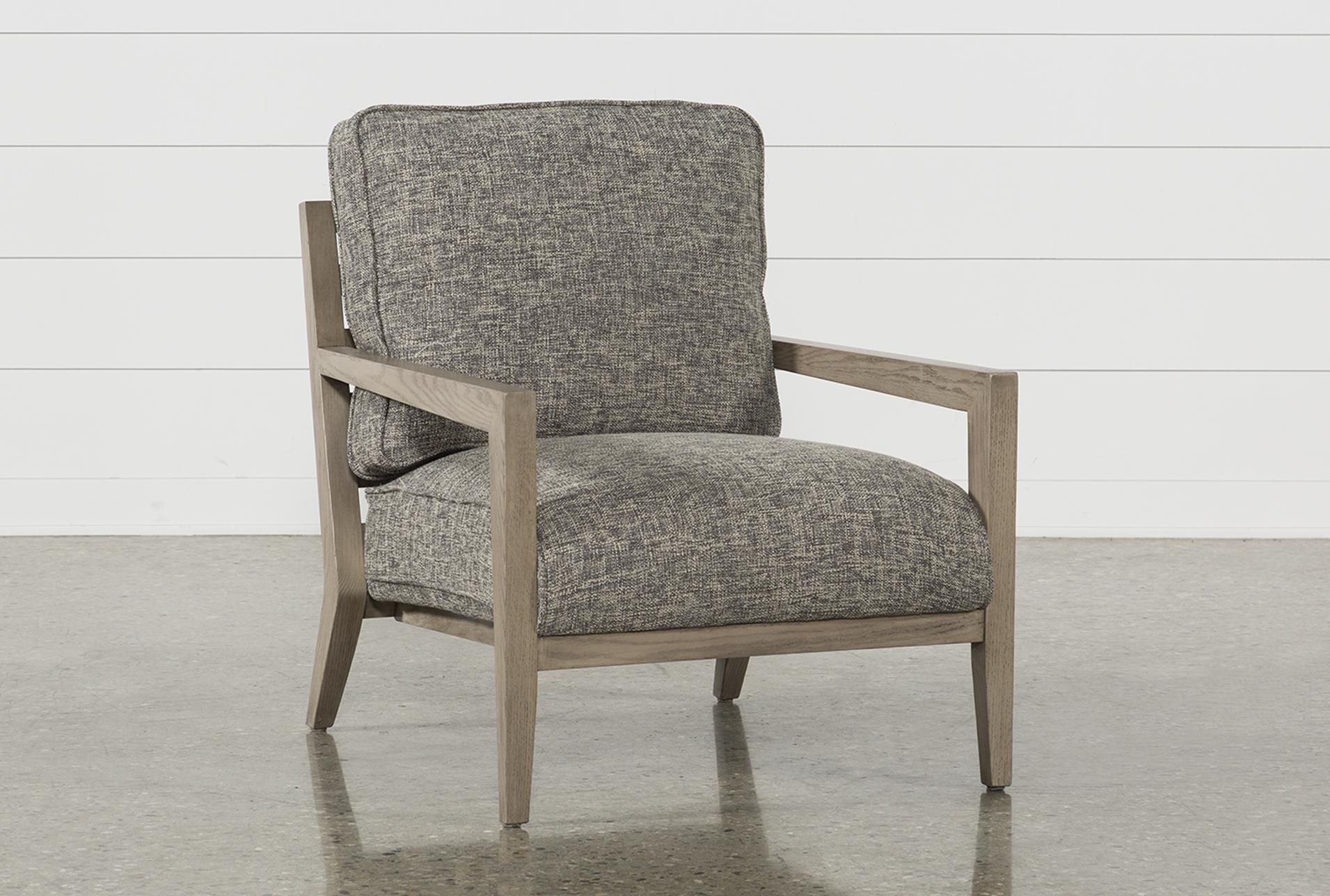 Caressa Dark Grey Accent Chair