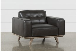 Caressa Leather Dark Grey Chair