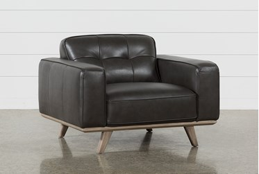Caressa Leather Dark Grey Chair