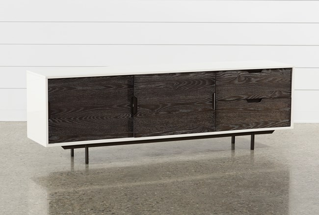 Bale Rustic Grey 82 Inch TV Stand - 360
