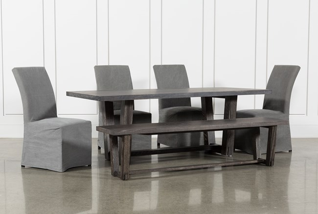Bale Rustic Grey 6 Piece Dining Set With Pearson Grey Side Chairs - 360