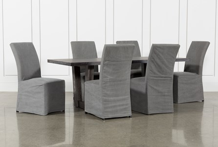 Bale Rustic Grey 7 Piece Dining Set With Pearson Grey Side Chairs