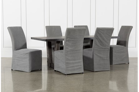 Bale Rustic Grey 7 Piece Dining Set With Pearson Grey Side Chairs - Main