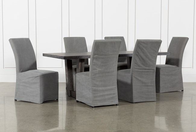 Bale Rustic Grey 7 Piece Dining Set With Pearson Grey Side Chairs - 360