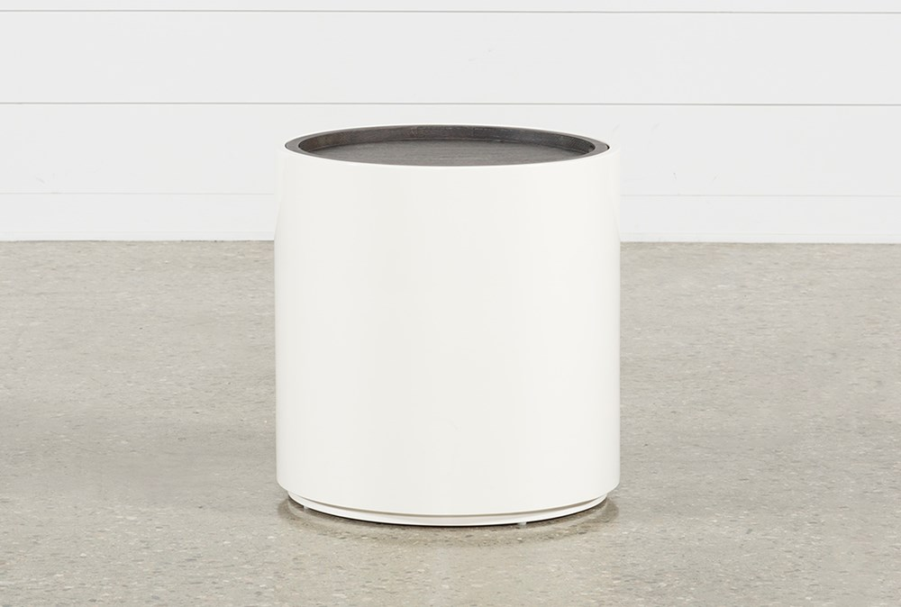Bale Rustic Grey Round End Table