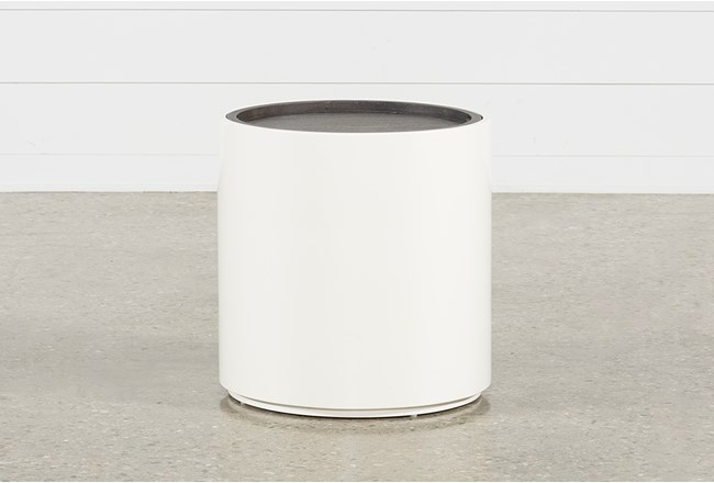 Bale Rustic Grey Round End Table - 360