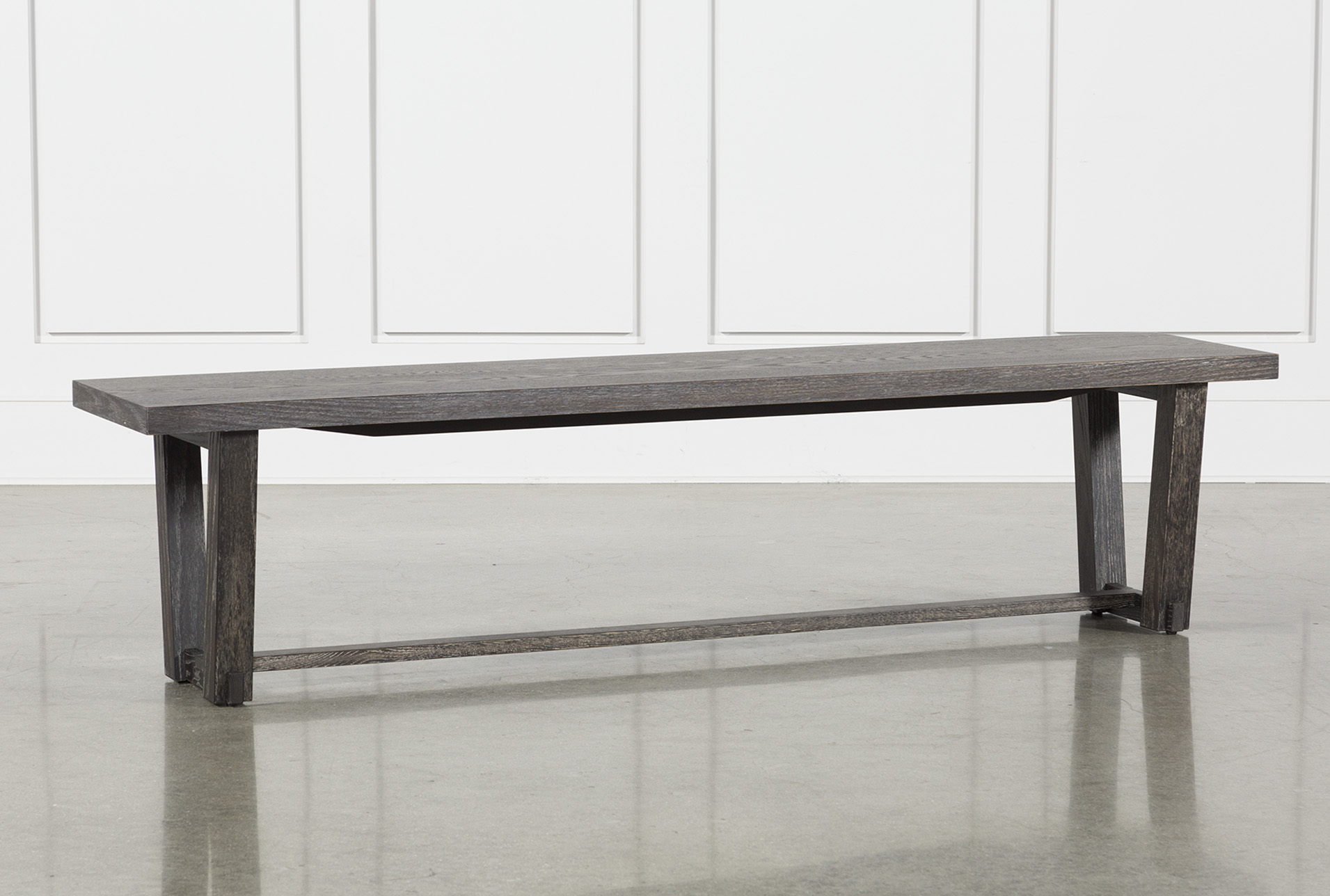Superbe Bale Rustic Grey Dining Bench   360
