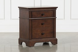 Derby Nutmeg 2-Drawer Nightstand
