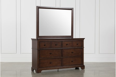 Derby Nutmeg Dresser/Mirror - Main