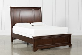 Derby Nutmeg Eastern King Sleigh Bed