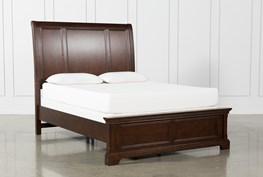 Derby Nutmeg Queen Sleigh Bed