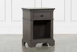 Derby Peppercorn 1-Drawer Nightstand