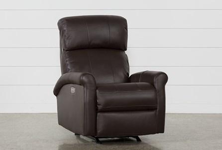 Dev Chocolate Power Recliner W/Pwr Headrest & Lumbar