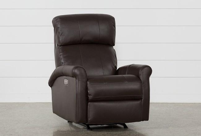 Dev Chocolate Power Recliner W/Pwr Headrest & Lumbar - 360