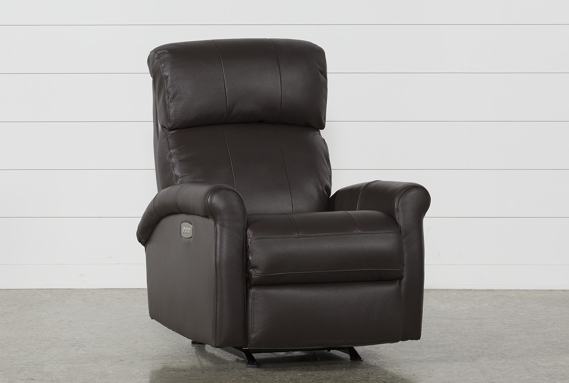 Dev Chocolate Power Recliner W/Pwr Headrest U0026 Lumbar