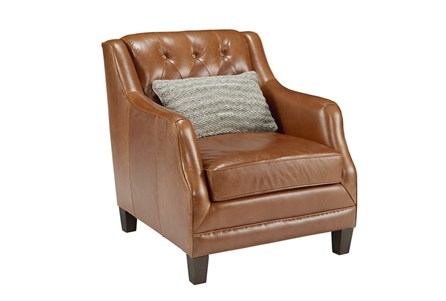 Magnolia Home Gentry Leather Chair By Joanna Gaines