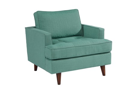 Magnolia Home Mcm Turquoise Chair By Joanna Gaines