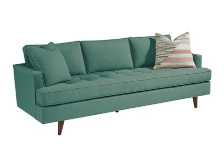 Magnolia Home Mcm Turquoise Sofa By Joanna Gaines