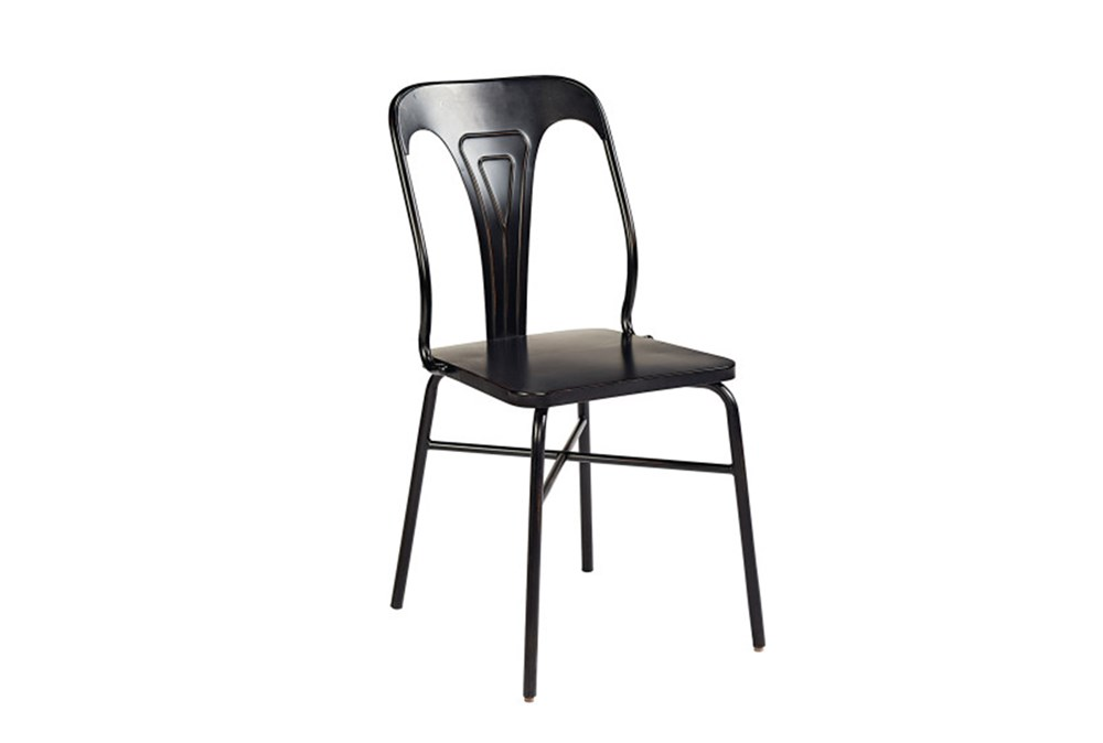 Magnolia Home Gaven Metal Set of 2 Stamped Dining Side Chair By Joanna Gaines