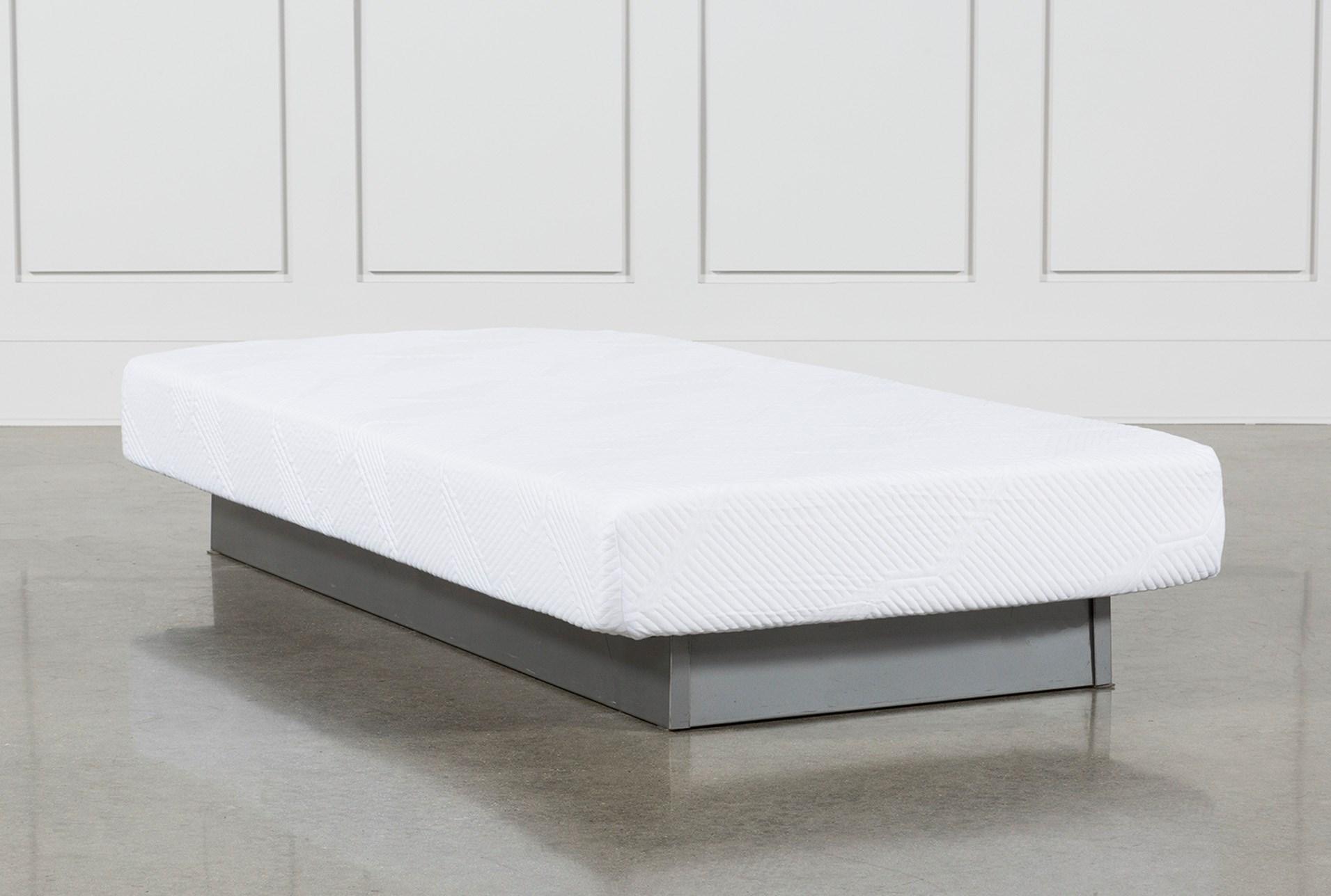 essentials 8 inch foam twin mattress living spaces. Black Bedroom Furniture Sets. Home Design Ideas