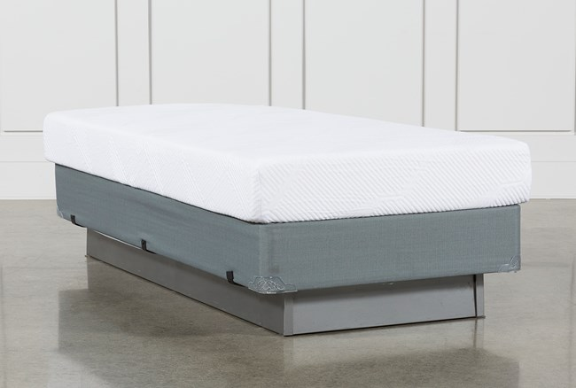 Essentials 8 Inch Foam Twin Mattress W/Foundation - 360